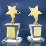 Brass Stars with Crystal Bases Employee Awards