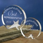 Freestanding Crystal Sales Awards