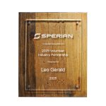 Reclaimed Wood Plaque - 10.5 X 13 Sales Awards