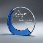 Clear Glass with Textured Blue Glass Sales Awards