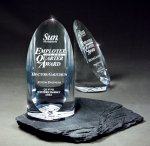 Sheared Lucite Cylinder Sales Awards