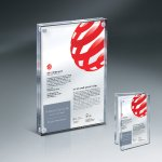 Magnetic Entrapment with Lasered Clear Front  and Clear Back Lucite Sales Awards